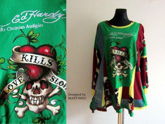 XL Recycled Dress Denim Recycled Denim Patchwork by MARTINELI