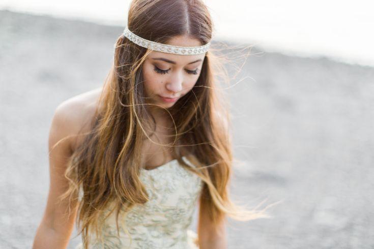 Beauty & The Bay of Fundy - halifax wedding photographer, Bridal headpiece, bries, weddings, flower crown, bridal hair, bridal make up