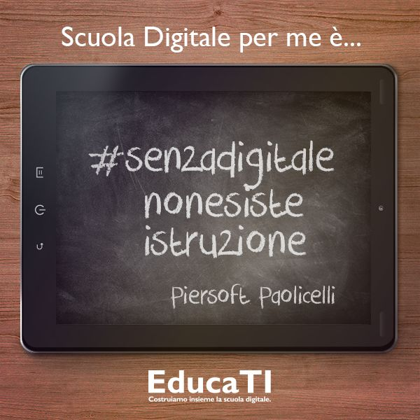 La #scuola #digitale vista da Piersoft Paolicelli!
