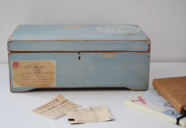 Caja vintage reciclada Objetos que cuentan historias generación tras generación / Vero Palazzo - Home Deco