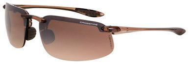Crossfire ES4 Safety Glasses with Crystal Brown Frame and HD Brown Flash Mirror Lens