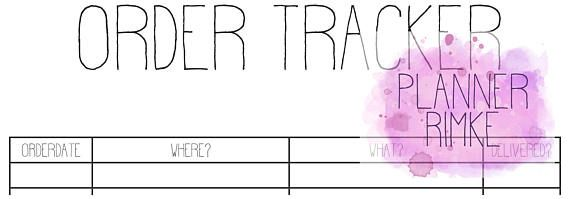 Order Tracker A5 - English Language