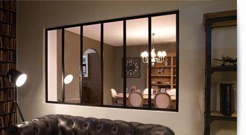 Verrière d'intérieur, Cloison vitrée en acier, Verrière type Loft... b