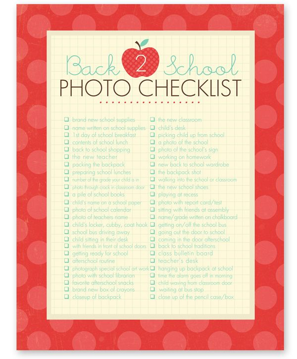 A great set of photo prompts for back to school. As a teacher I like most of these ideas! Please do not photograph the teacher's desk. This is her private space so be respectful.