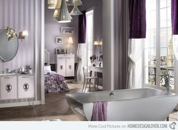 Lavender And White Bathroom   Google Search | Bathroom | Pinterest | Lavender  Bathroom, Bathroom Designs And Lavender Room