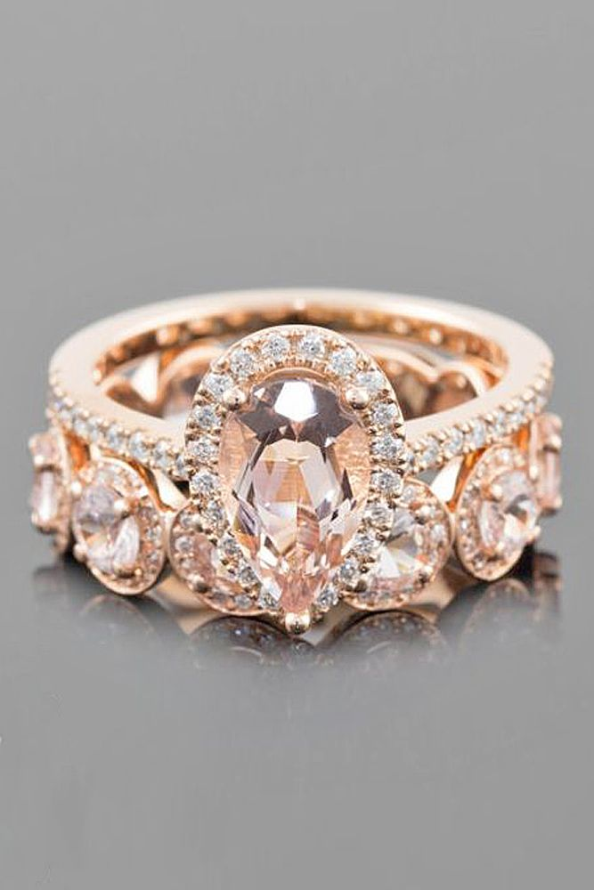 24 Morganite Engagement Rings We Are Obsessed With ❤ See more: http://www.weddingforward.com/morganite-engagement-rings/ #wedding #engagement #rings