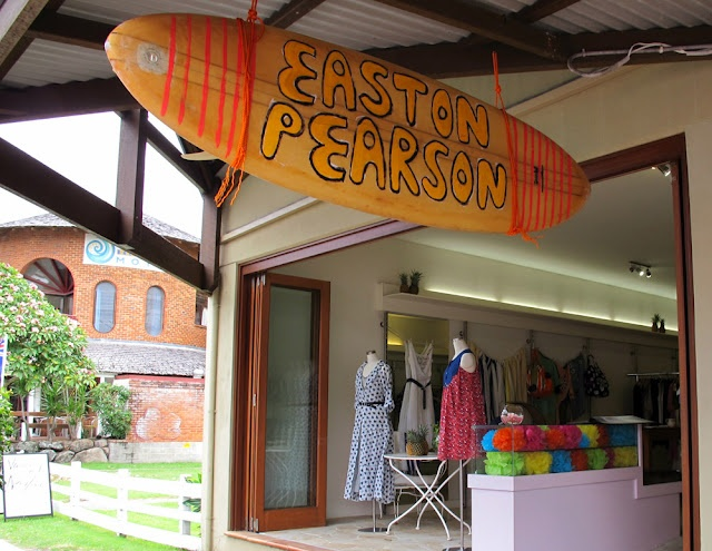 Our summer pop-up shop at Bryon Bay... hand-painted surf deck by Stephen Mok