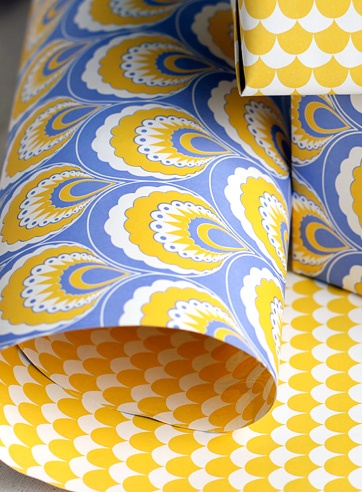 Fabulous wrapping paper from Smock Paper (I actually thought it was wall paper! So I am posting here for the sake of inspiration)