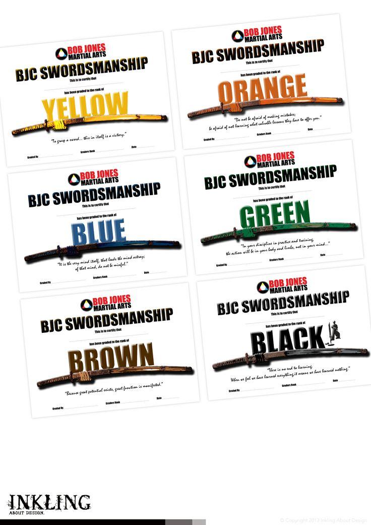 certificate series designed for ZEN DO KAI QUEENSLAND by Inkling About Design www.inklingaboutdesign.com #graphicdesign #inkling #certificate #Toowoomba #Queensland #zendokai #martialarts #karate #katana #swordsmanship #bjc #bobjones