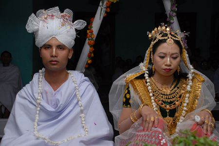 Typical Meitei wedding in Manipur, India