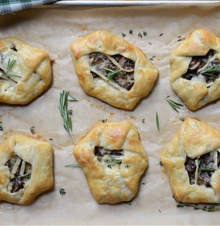 Mushroom & Brie galettes with rosemary & thyme by @anediblemosaic. # ...