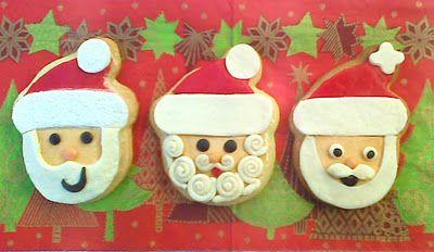Pan comido: Galletas de Papa Noel decoradas con fondant