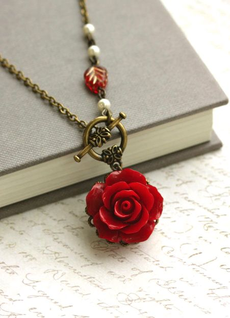 Red Rose Necklace.