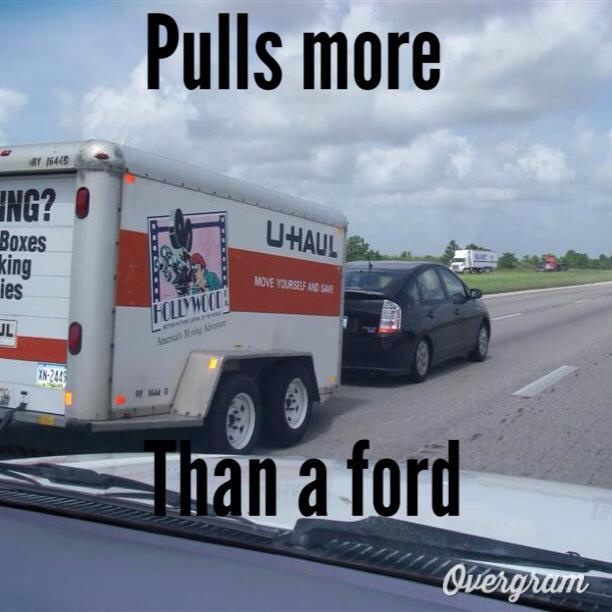 Toyota Hybrid Prius Out Pulls A F150 Eco Boost And Gets Better Gas
