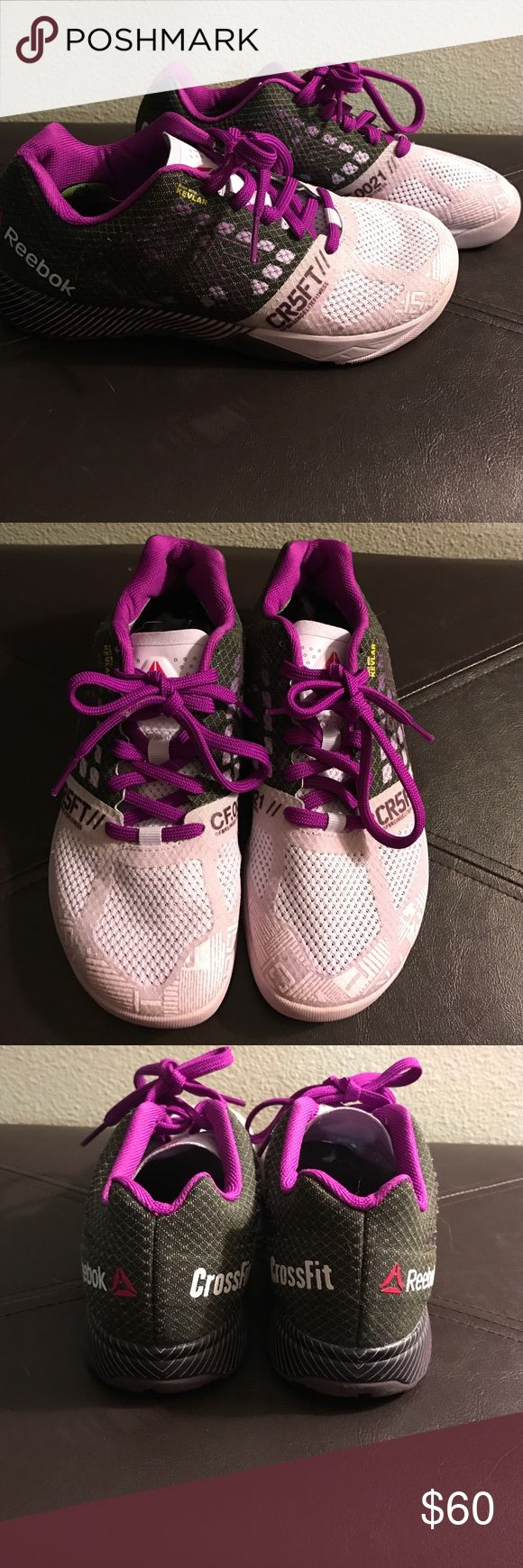 Reebok Crossfit Nano 5.0's size 6.5 Brand new- wore them once for a warm-up only - have Achilles tendinitis and had to switch to a different type of shoe for my workouts. These are the nano 5.0 version, great for crossfit & HIIT type workouts , strength training etc. Size 6.5. Reebok Shoes Sneakers