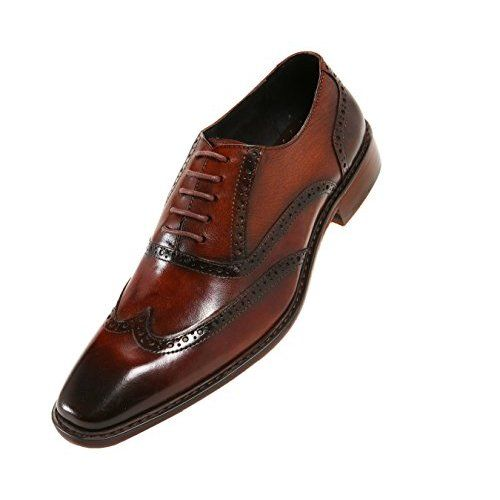 a841549e2d8bc Amazon.com | GIFENNSE Men's Handmade Leather Sole Modern Classic ...