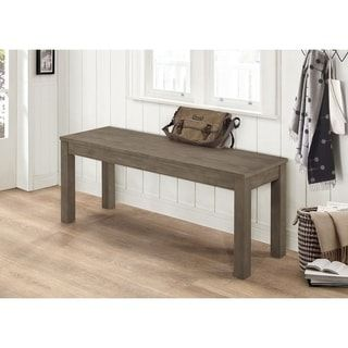 Shop for 48-inch Homestead Simple Wood Dining Bench. Get free shipping at Overstock.com - Your Online Furniture Outlet Store! Get 5% in rewards with Club O! - 23405114