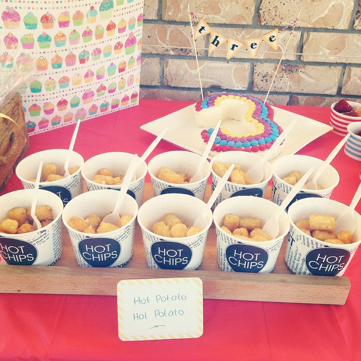 "Wiggles party food ""Hot Potatoes"""