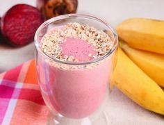 Cantinho Vegetariano: Vitamina de Banana, Beterraba e Aveia (vegana)