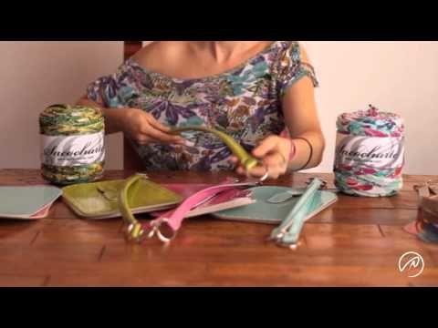 Bases y asas para bolsos con cinta Sacocharte - ganchillo XXL con trapillo