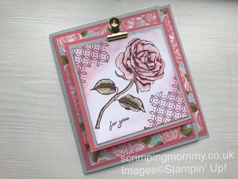 "Double fold ''Graceful Garden card "" Stampin' Up! products - YouTube"