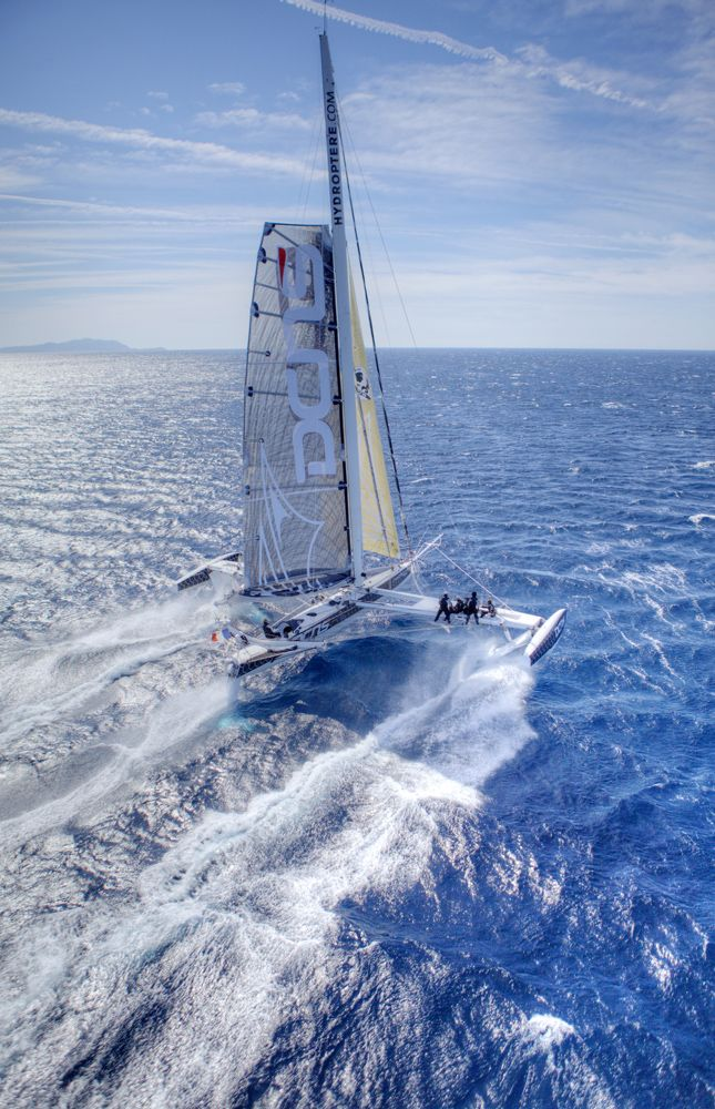 Aerial picture of Hydroptere