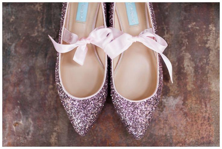 Betsey Johnson pink glitter sparkle wedding shoes - Simply Bliss Photography - Best of 2017 Arkansas Wedding Photos   Favorite Wedding Details