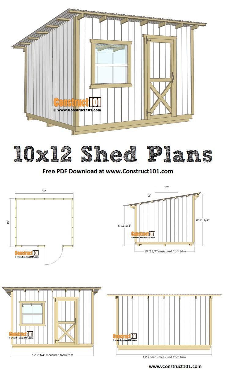 1012 Lean To Shed Plans Pdf Download Diy Storage Shed Plans Lean To Shed Diy Storage Shed