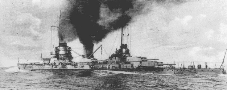 11 in SMS Moltke in 1913 - the only one of Germany's battlecruisers to survive Jutland in 1916 with relatively light damage, Vice Admiral Hipper transferred (not without difficulty) his flag to her once SMS Lutzow was terminally damaged.  Her sister SMS Goeben played a critical part in Turkey's entry in to the war in 1914, transferred to their Navy as Yavuz and surviving until 1970.