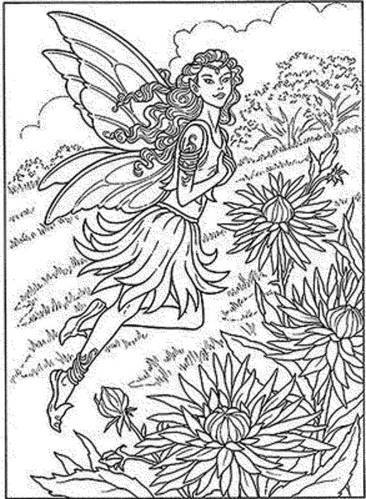detailed fairy coloring pages molly harrison free coloring pages