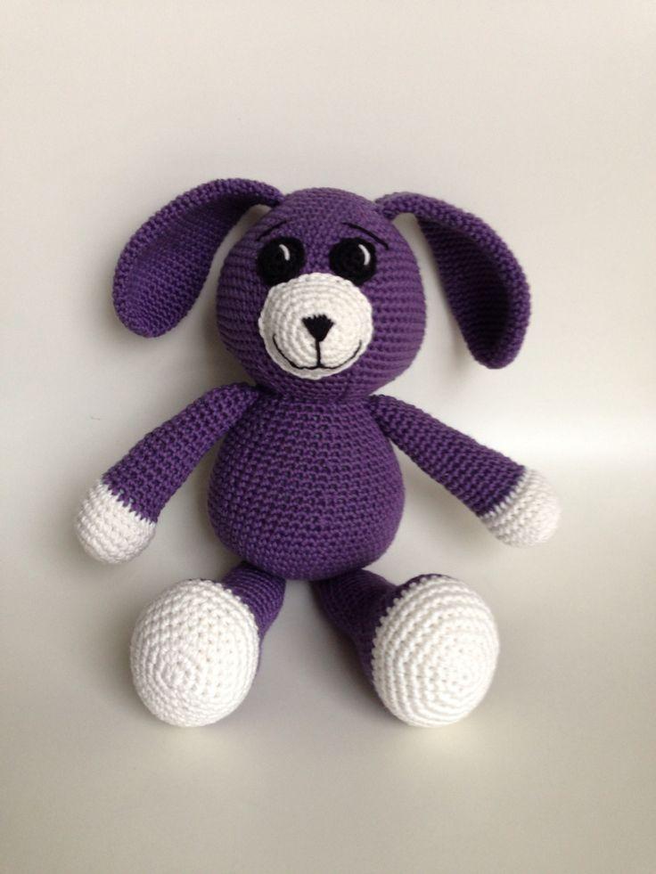Purple teddy - Bunny? Dog?
