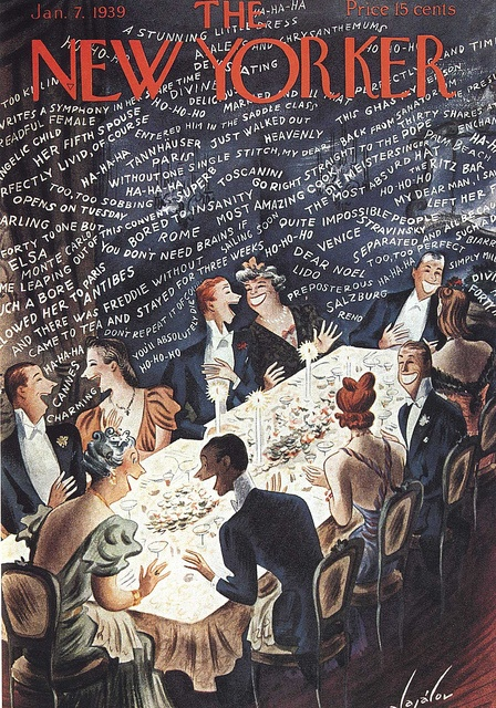 The New Yorker Jan. 7, 1939 - Hilarious party conversation! by Silverbluestar, via Flickr