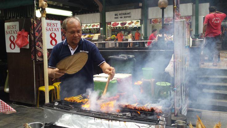 Delicious skewers at Satay Street, Singapore #travel #ditchyourdesk #wanderlust #travelblogger #digitalnomad #Singapore