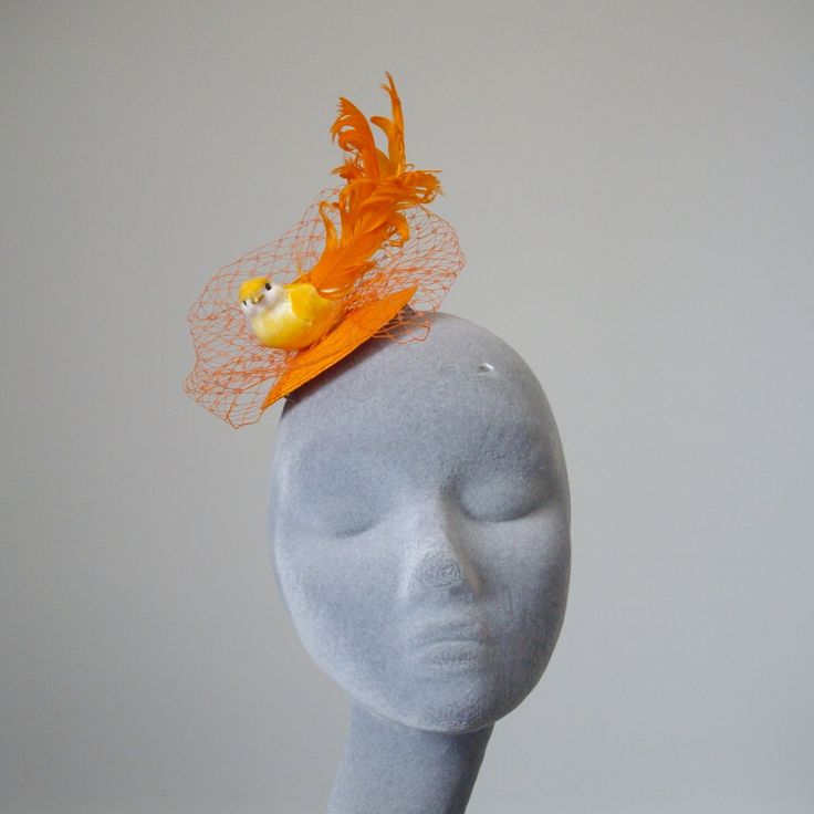 Orange Fascinator - Orange Bird Fascinator (37.50 GBP) by ImogensImagination