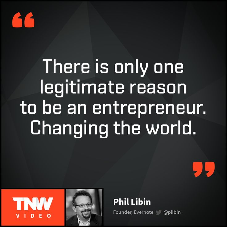Why should you not be an entrepreneur?  Watch Phil Libin's talk on TNW Video to find out.