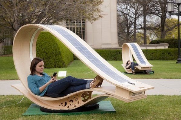 Love this - Solar charging bench at MIT.  Organic and Earth Loving ...