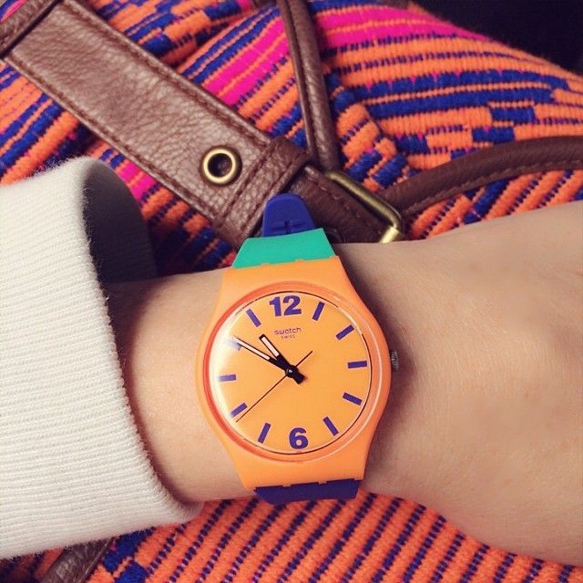 #Swatch: Swatch กรอบส้ม, Inspiracje Modowe, Futuros Swatch, Favourite Things, นาฬิกา Swatch, Fashion Accessories, Tic Tac