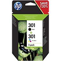 Hp N9j72ae 301 Original Ink Cartridges Black And Tri Colour Pack Of 2 Amazon Co Uk Office Products In 2020 Hp Instant Ink Ink Cartridge Original Ink