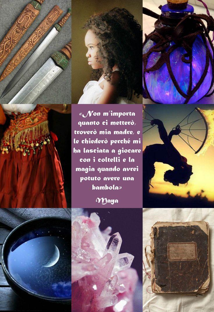 """Maya è un personaggio di """"Soffitti Sconosciuti"""", ©Elena De Martino (Frase e descrizione in italiano)"""