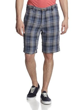 67% OFF Tailor Vintage Men's Reversible Shorts (Indigo/Natural Linen)