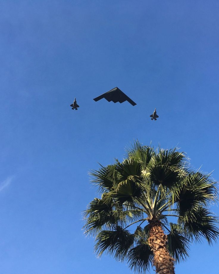 A B-2 Spirit, also known as the Stealth Bomber, and two fighters jets fly over the 2018 129th Rose Parade route in Pasadena, Calif., Monday, Jan. 1, 2018. I was standing in Central Park talking to a couple and we all got the chills when the middle plane took off close to vertical from who knows where. We wondered, WTF?! Cool, different, WTF was that?! Jonathan guessed it was flying over the parade. I said it would probably be on the internet to find out. And here it is!