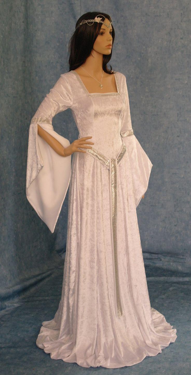 ELVEN DRESS medieval renaissance  fairy dress LOTR custom made. £118.00, via Etsy.