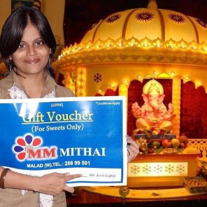 Congratulations Again !! @Rujuta Vaidya Jadhav 1st Prize Winner of Ganpati Decorations !!