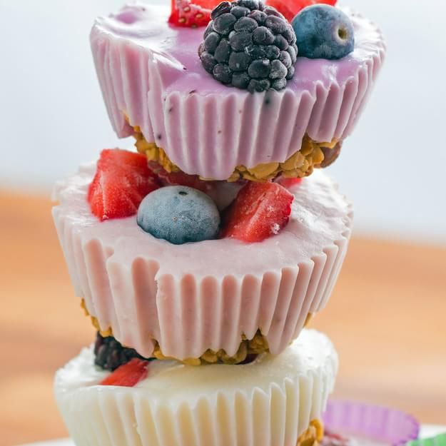 Here's An Appetizing Recipe For Frozen Yogurt Granola Cups That You Need In Your Life