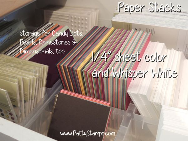 Love this!!! Organize a drawer with pre-cut paper for quick card making. Drawer inserts are from Ikea (link on site).