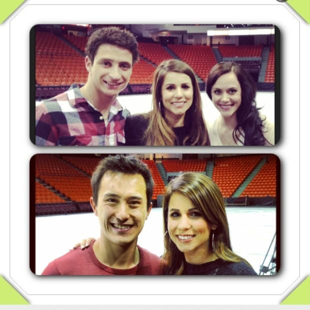 Patrick Chan, Tessa Virtue and Scott Moir are some of Canada's best figure skaters! They're currently travelling together and skating around Canada with Stars on Ice! Last week while they were training for their Halifax show, I had the chance to chat with all three of them. Click on the link to take a look at my interviews.  http://atlantic.ctvnews.ca/ana-skates-with-stars-1.1798146