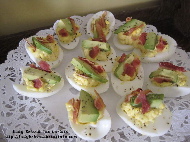 bacon avocado deviled eggs#Repin By:Pinterest++ for iPad#