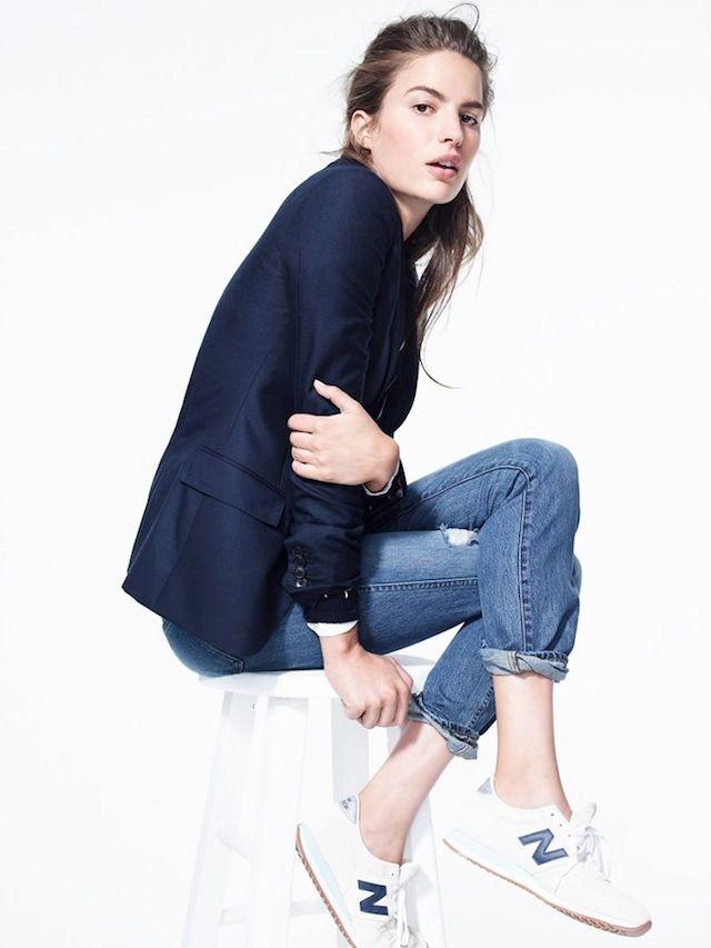Jeans and blazer, the J Crew way