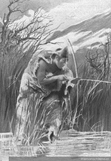Ona cazando, hacia 1910
