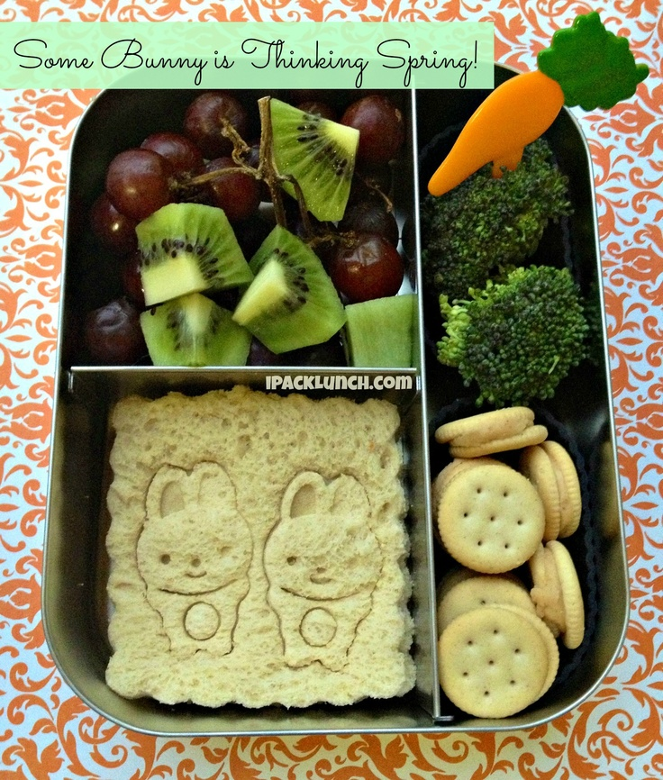 Bunny bento lunch for spring